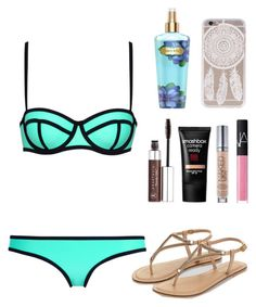 """""""Travel-Day 2"""" by amanrose on Polyvore featuring Milly, Victoria's Secret, NARS Cosmetics, Smashbox, Urban Decay, Anastasia Beverly Hills and Accessorize"""
