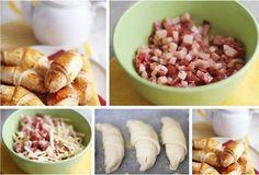 Pyszne rogaliki z szynką i serem