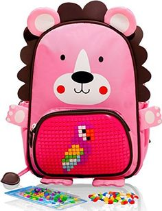 EPIC KIDS Cute Backpack with Pixel Art Front Pocket – Cre...