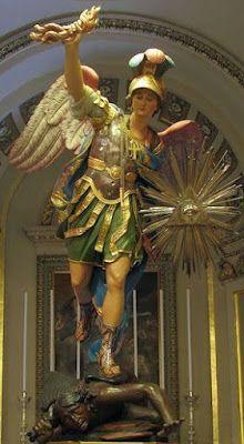 Saint Michael Angel, St Michael, Catholic Art, Religious Art, St Georges Day, Dark Evil, Haitian Art, Kunst Online, Christian Religions