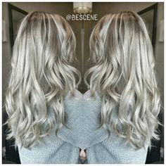 Icy ash blonde. #hairgoals