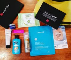 #hellosunshine #targetbeautybox for #april2016 has #arrived. #fullsized #covergirllipstick is #worththepriceofadmission. Also #Pantene #airspray #hairspray #Maybelline #laneige #waterbank #soothingmask #hawaiiantropic #islandsport #spf30 #Marlowe #bodybutter #simple #cleansingwipes #cerave #$7 #aprilboxes #cosmetichaulic #coupon #colorlicious