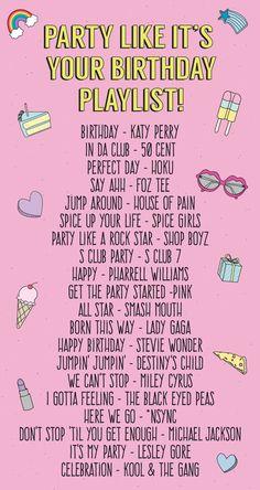 Party Like It's Your Birthday Playlist! | studiodiy.com