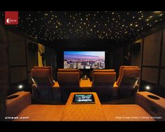 CINEAK Ferrier Luxury Seats featured in High-Tech Theater contemporary media room