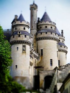 The Château de Pierrefonds is a castle situated in the commune of Pierrefonds in the Oise département of France. It is on the southeast edge of the Forest of Compiègne, north east of Paris, between Villers-Cotterêts and Compiègne. Vila Medieval, Chateau Medieval, Medieval Castle, Beautiful Castles, Beautiful Buildings, Beautiful Places, Chateau Pierrefonds, Oh The Places You'll Go, Places To Travel