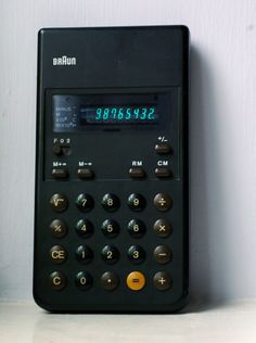 Braun ET 22 Calculator by Dieter Rams and Dietrich Lubs, 1976