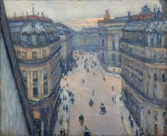 The Rue Halévy, Seen from the Sixth Floor - Gustave Caillebotte, 1878. Private Collection, Dallas, TX #Caillebotte