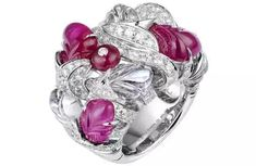 Cartier diamond and pink sapphire ring