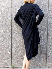 Black Asymmetrical Loose Kaftan