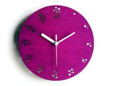 Laser corte de madeira, relógio de parede minimalista, relógio de parede de madeira, relógio de parede moderno, relógio de parede colorido
