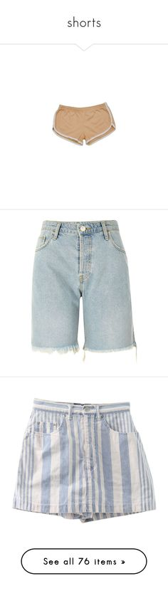 """""""shorts"""" by ladykrystal ❤ liked on Polyvore featuring shorts, bottoms, pants, short, american apparel, blue, sale, women, zipper shorts and blue shorts"""