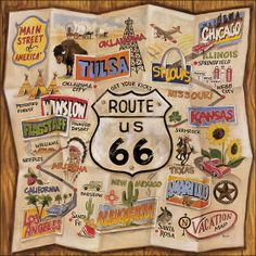 Travel Route 66 and visit all the diners and dives and stay in the old motels along the route...