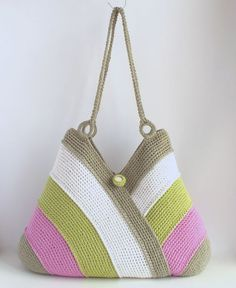 Bolso colorido verano bolso de la playa bolso de mano bolso