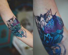 Moth tattoo by DŻO LAMA joanna Swirska