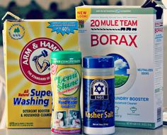 Homemade dishwasher Detergent...want to try this.