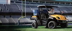 VOLUNTEER™  Utility Vehicles  Unsurpassed 1,400-lbs. payload capacity and more than 40 attachments.  Abundant power with heavy-duty gas and diesel engine options.  1-year residential limited warranty.