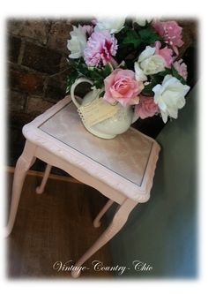 Pink Shabby Chic Lamp Table