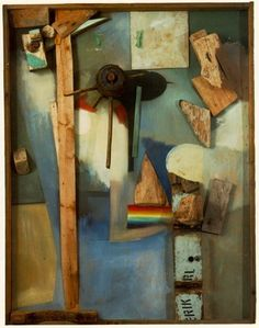Merz Picture with Rainbow; by Kurt Schwitters- garbage collage. things out of everyday life. all these broken bits of things lying around the studio. Kurt Schwitters, Collages, Collage Artists, Dada Collage, Collage Artwork, Collage Ideas, Man Ray, Photomontage, Dadaism Art