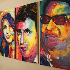 Egyptian icons   #omkalthoum #abdelhalim #soaadhosny #art #artist #artwork #abstract #painting #portrait #paletteknife #paletteknifepainting #francoiseniellyart #francoisenielly #egyptart #egyptartist #colorful #creative #art_help #art_empire #art_spotlight