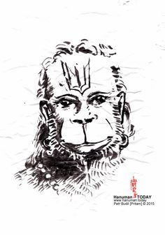 Wednesday, December 9, 2015  Jai Hanuman! If you'd like​ to​ see every day a new drawing of Hanuman from the same artist who drew this ​one, ​visit https://www.facebook.com/hanuman.today