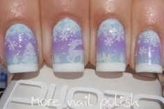 Nail Polish Canada - Holiday Nail Art Challenge - Snow - More Nail Polish