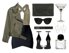 """Dry martini"" by baludna ❤ liked on Polyvore featuring Dartington Crystal, Acne Studios, Yves Saint Laurent, Vlieger & Vandam, Quay, NARS Cosmetics, STELLA McCARTNEY and Byredo"