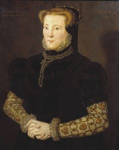 1557 Unknown Lady aged 28. Artist: Hans Eworth: Tate Gallery. Okay, why does no-one say that this is Bess of Shrewsbury? There must be a reason. Bess was born in 1527: she was 30 in 1557. What's two years when you are contemplating a new marriage?