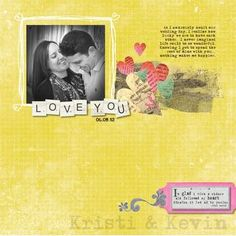 Nancy O'Dell Love Digital Scrapbook Layout Project Idea from Creative Memories