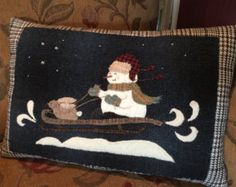 Wool applique pattern called Winter by SusanGonzalesDesigns