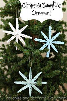 Easy DIY snowflake ornament.