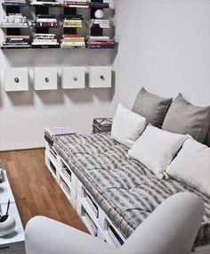 Dcore você | Sofá de palete -100 modelos para se inspirar e fazer o seu | http://www.dcorevoce.com.br