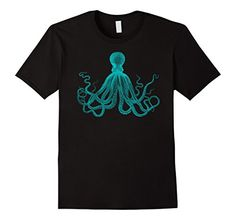Giant Octopus Graphic Tee Shirt, Squid, Sea Life, Vintage, Designed by an independent artist, printed in USA. Support indy art. Keep Austin Weird. Sealife, Squid, Fin, Marine, Tropical, Aquarium, Octopus, Monster, Tentacle, Comic, cephalopod, Fish, Boat, boating, pirate, Cthulhu, Lovecraft, Steam Punk, Men's, Boy's, Women's, Girl's, Children's, Youth, Teen, fashion, design, art.