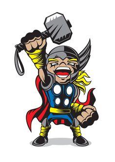 #Thor #Fan #Art. (MARVEL COMICS MINIS) By: Chad Woodward. (THE * 5 * STÅR * ÅWARD * OF * MAJOR ÅWESOMENESS!!!™)[THANK U 4 PINNING!!!<·><]<©>ÅÅÅ+(OB4E)
