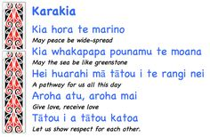 Springston Te Reo : More karakia for class.