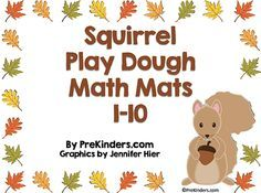 Squirrel Play Dough Math Mats