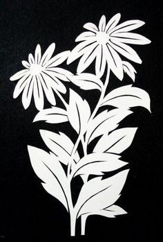 cut paper design Daisies