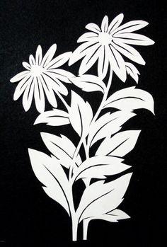cut paper design Daisies