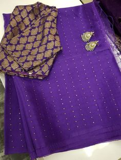 Purple Organza Saree from Aavaranaa Boutique www.yarnstyles.com