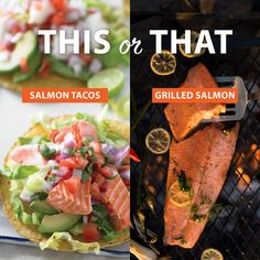 Wild Seafood Seafood Delivery, Salmon Tacos, Grilled Salmon, Organic Recipes, Soul Food, Harvest, Grilling, Snack Recipes, Chips