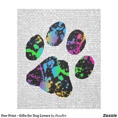 Paw Print - Gifts for Dog Lovers Tile - dog puppy dogs doggy pup hound love pet best friend Paw Print Art, Father's Day Activities, Bright Paintings, Love Pet, Cool Pets, Dog Paws, Home Living, Love Gifts, Dog Lover Gifts