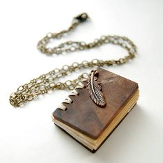on the Wing Brass Necklace (walnut wood) Book necklace: How could I make this?Book necklace: How could I make this? Cute Jewelry, Jewelry Box, Unique Jewelry, Jewelery, Jewelry Accessories, Jewelry Necklaces, Jewelry Making, Pearl Necklaces, Gothic Jewelry