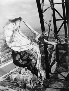 Photo by  Erwin Blumenfeld, 1939, Eiffel Tower, Vogue.