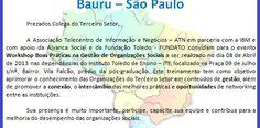 """Alavanca Social ministra Workshop """"Boas Práticas na Gestão de Organizações Sociais"""" em Bauru."""
