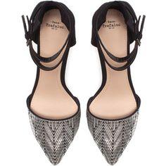 Zara Vamp Shoe With Ankle Straps