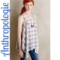 NIP Anthropologie Plaid Asymmetric Swing Tunic Top NIP Anthropologie Plaid Asymetric Swing Tunic  • Holding Horses for Anthropologie   MSRP $78.00  • asymmetric hem • pull over styling • plaid print • light material  • relaxed, easy fit  Size Large Measurements available upon request   No trade or pp offers  Fair offers    Bundle discounts  Anthropologie Tops