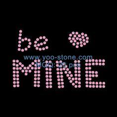 Cheap Wholesale Pink Heart Be Mine Rhinestone Design