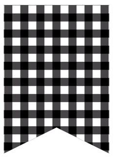 black gingham Free Printable Banner, Printable Crafts, Printable Designs, Printable Paper, Printables, Pocket Scrapbooking, Scrapbook Paper, Make Your Own Banner, Disney Planner
