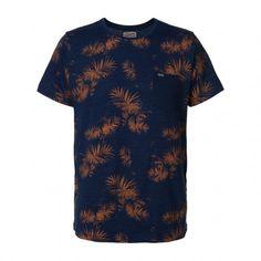 Petrol Industries TSR603 t-shirt heren light indigo melange