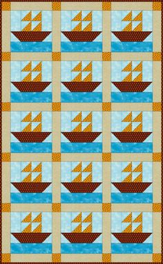 Stitch a Baby Quilt for That Special Little One: Make a Sailboats Quilt