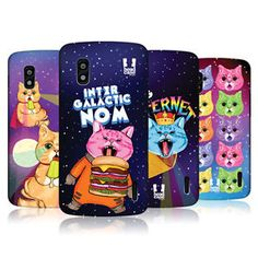 HEAD-CASE-DESIGNS-CATS-IN-SPACE-HARD-BACK-CASE-FOR-LG-NEXUS-4-E960 Space Cat, Phone Cases, Cats, Cover, Ebay, Design, Gatos, Cat